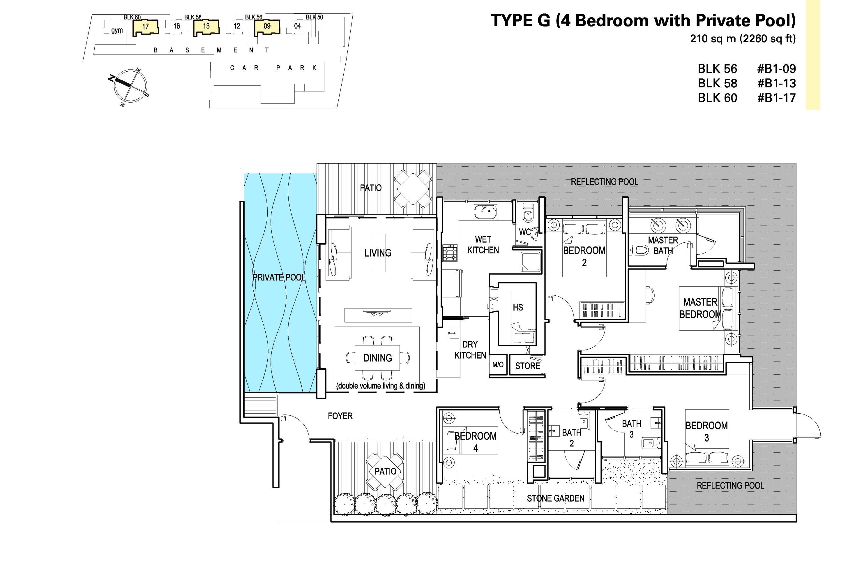 4 Bedroom(Pool) - St Patrick's Residences